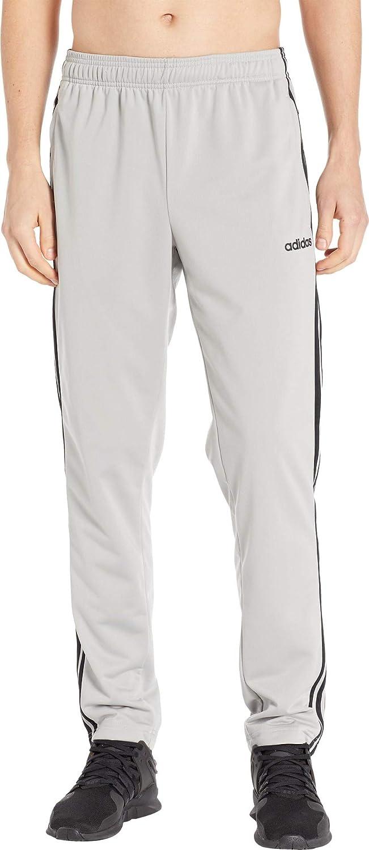 adidas Men's Essentials 3 Stripe Tricot Open Hem Pants