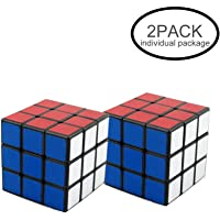 ILink 2Pack Classic Standard 3x3 56mm Smooth Speed Reliable Puzzle – Professional Original Maigc Cube For Kids and Adults