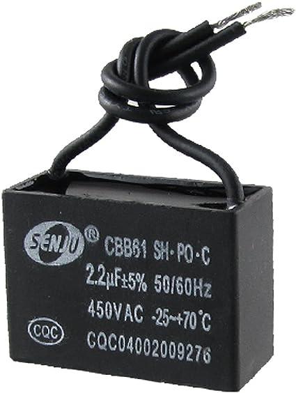 CBB61 2.2uF 450V AC motore monofase Run condensatore