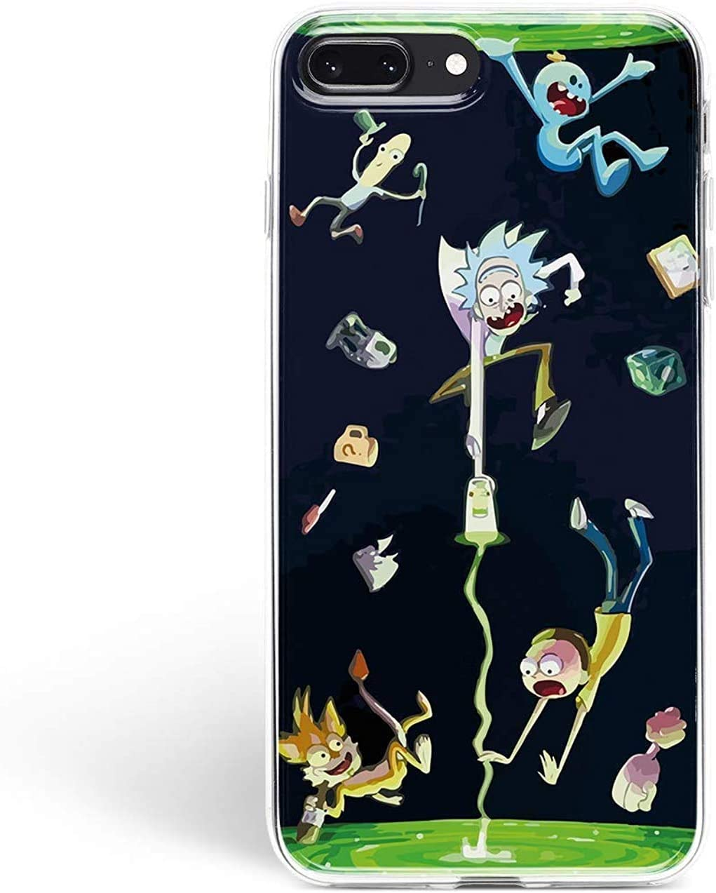 iPhone Get Schwifty Fandom Silicone Clear Protective Cell i Phone Case (Rick Morty Portal, 7 Plus / 8 Plus) …