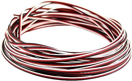 OliYin 50 Feet 22awg Servo Cable 3p Line For Futaba JR RC Servo Hobby Model Aircraft Model Wiring 60 corex0.08mm