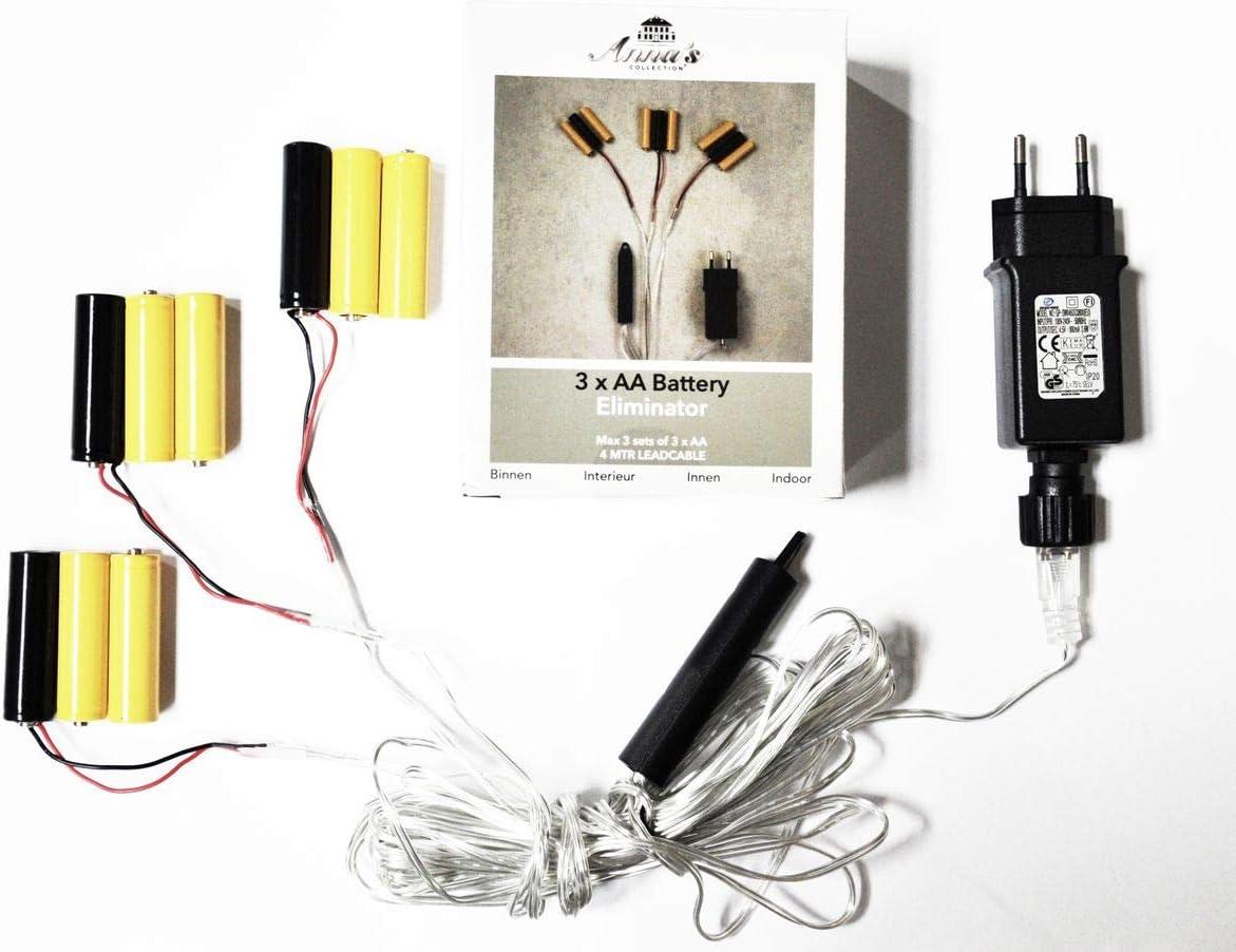 Coen Bakker Batterie Adapter 3 x 3 AA Mignon Batterien 4,5V Wandler 4m Kabel Netzteil