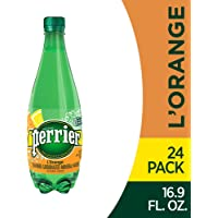 Perrier L'Orange Flavored Carbonated Mineral Water (Lemon Orange Flavor),. Plastic Bottles , 16.9 Fl Oz (Pack of 24)