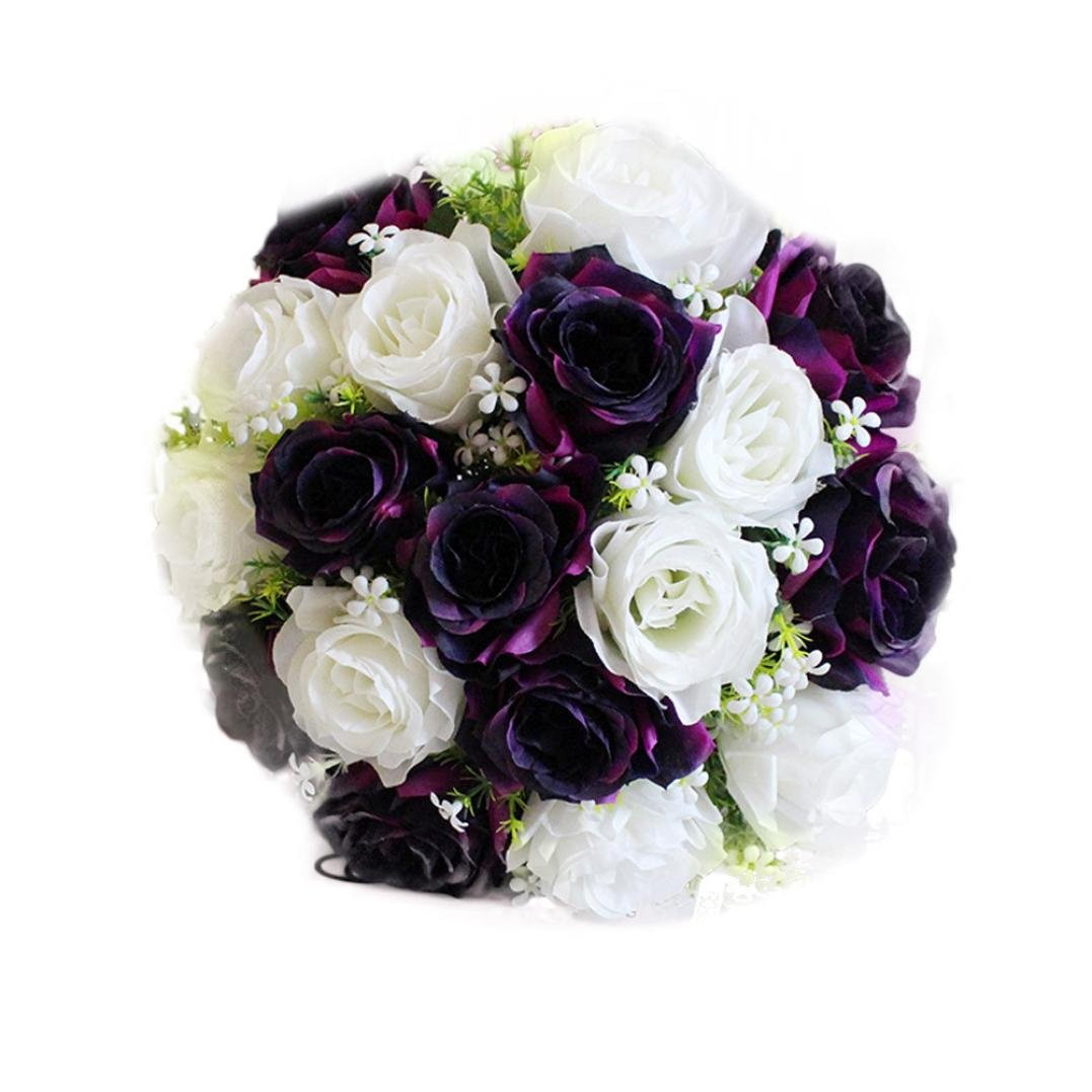 Amazon leewa fake flowers 18 heads artificial silk roses for amazon leewa fake flowers 18 heads artificial silk roses for bridal bouquet home wedding decor 36cml white sports outdoors izmirmasajfo