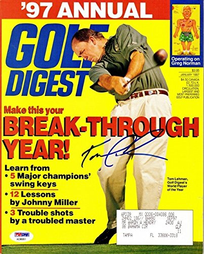 Tom Lehman Memorabilia - Tom Lehman Autographed Signed Golf Digest PSA/DNA Authentic