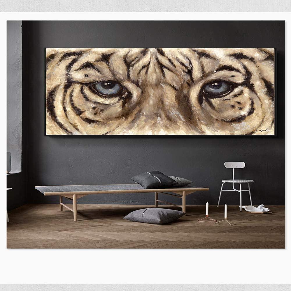 NIMCG Tigre Lienzo Pintura Abstracta Pintura Abstracta Moderna ...