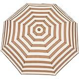 FakeFace Navy Stripes Style Compact Triple Folding Automatic Umbrella Auto Open & Close Travel Anti-