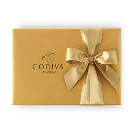 amazon com godiva chocolatier gold ballotin classic gold ribbon