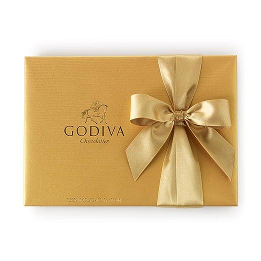 amazon com godiva chocolatier gold ballotin classic gold ribbon