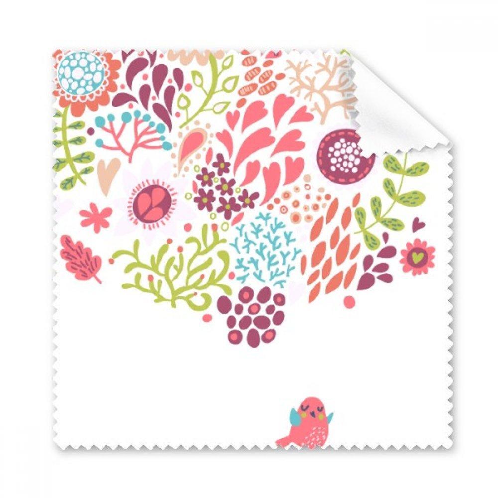 ソリッドカラー花図面植物鳥Glasses布クリーニングクロスギフト電話画面クリーナー5点   B072LY3C5L