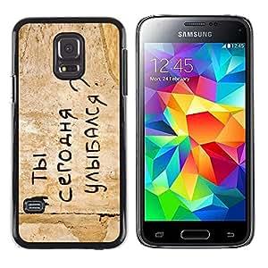A-type Arte & diseño plástico duro Fundas Cover Cubre Hard Case Cover para Samsung Galaxy S5 Mini (Not S5), SM-G800 (Gracioso - Mensaje de Rusia)