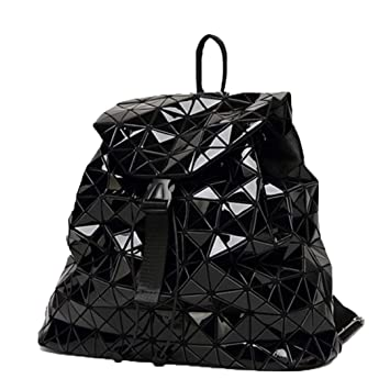 Mochila para Mujer Mochilas Negras Mochila Diaria para niñas Paquete de geometría Lentejuelas Bolsas Plegables Black: Amazon.es: Equipaje
