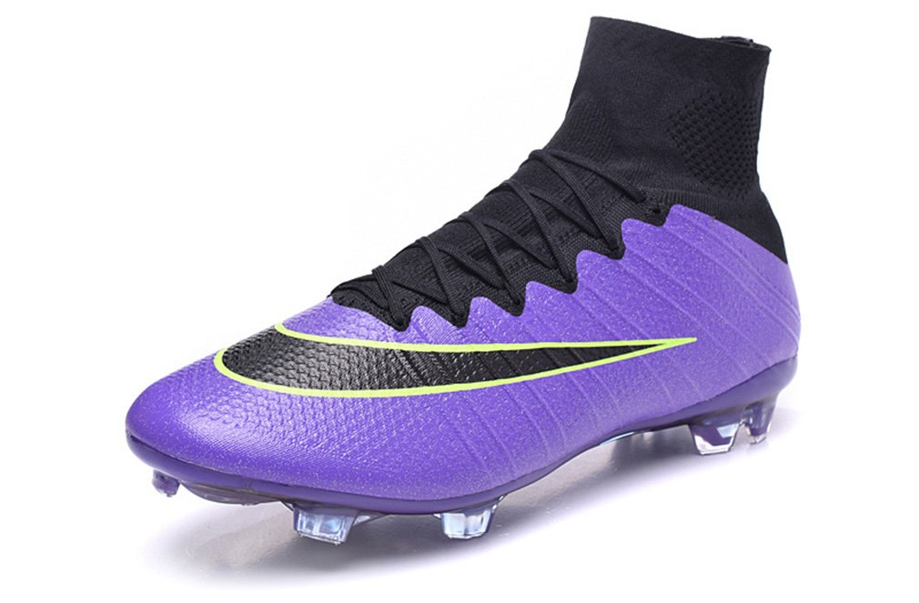 Generic Herren Mercurial superfly X 10 FG Hi Top Violett Fußball Schuhe Fußball Stiefel