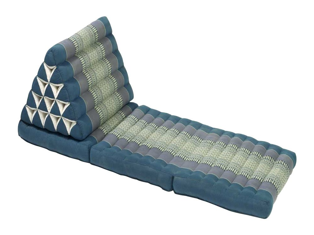 My Zen Home, Jumbo Triangle Recliner & Lounger, 22x67x3x16, Aqua by My Zen Home