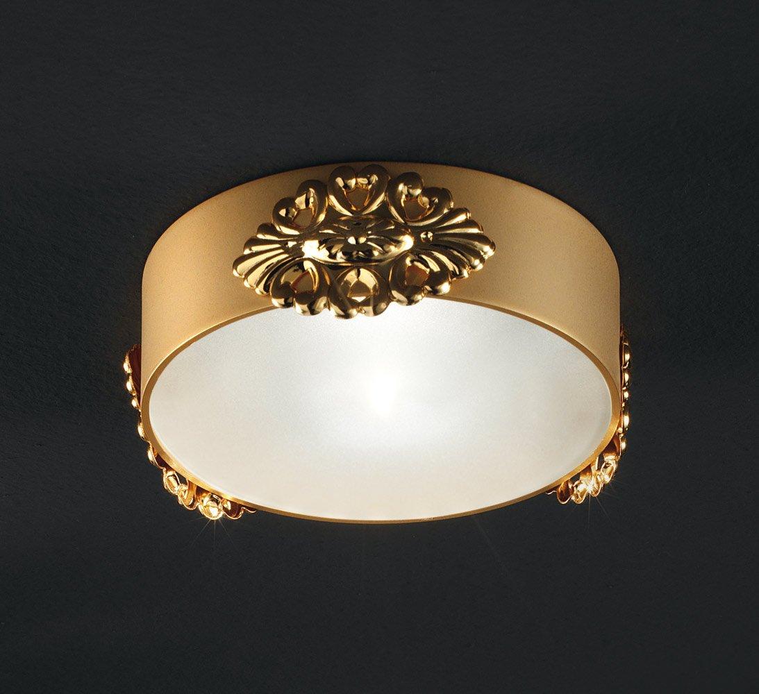 Masiero Einbauleuchte Spots Brass & Spots 24 Karat Gold Handarbeit,Made in
