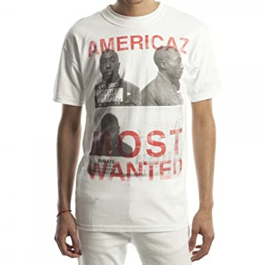 Mens Tupac 2pac Americaz Most Wanted T-shirt XL