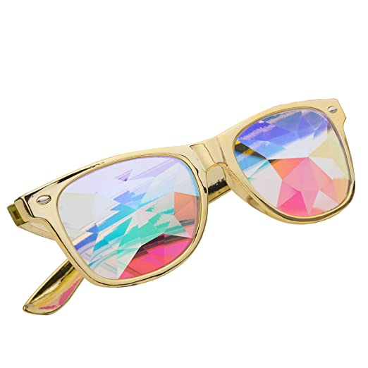 Review DODOING Amazon Prime Deals, Festivals Kaleidoscope Glasses for Raves - Goggles Rainbow Prism Diffraction Crystal Lenses