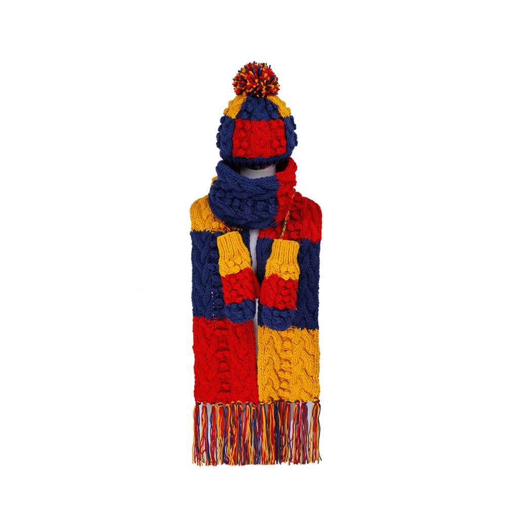 冬のファッションニットガールズスカーフ帽子手袋3ピースセット B07KT18HP1