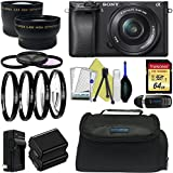 Sony Alpha a6300 Mirrorless Digital Camera with 16-50mm Lens + Sony E-Mount 55-210mm F 4.5-6.3 Lens + Pixi-Advanced Accessory Bundle - International Version