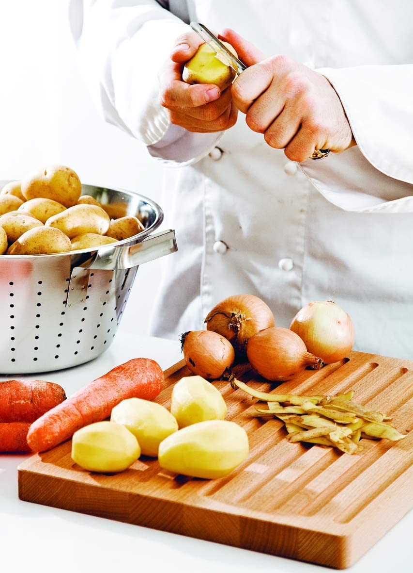 Linden Sweden Original Jonas Vegetable Peeler – Made In Sweden- Great for Apples, Carrots and Potatoes - Ergonomic Handle for Safety and Control - Dishwasher Safe - Stainless Steel Construction: Potato Peeler: Kitchen & Dining