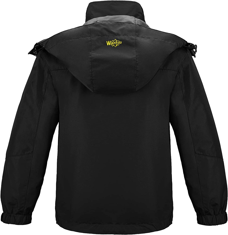 Wantdo Girls Waterproof Ski Jacket Warm Winter Jacket Raincoat with Fur Hood