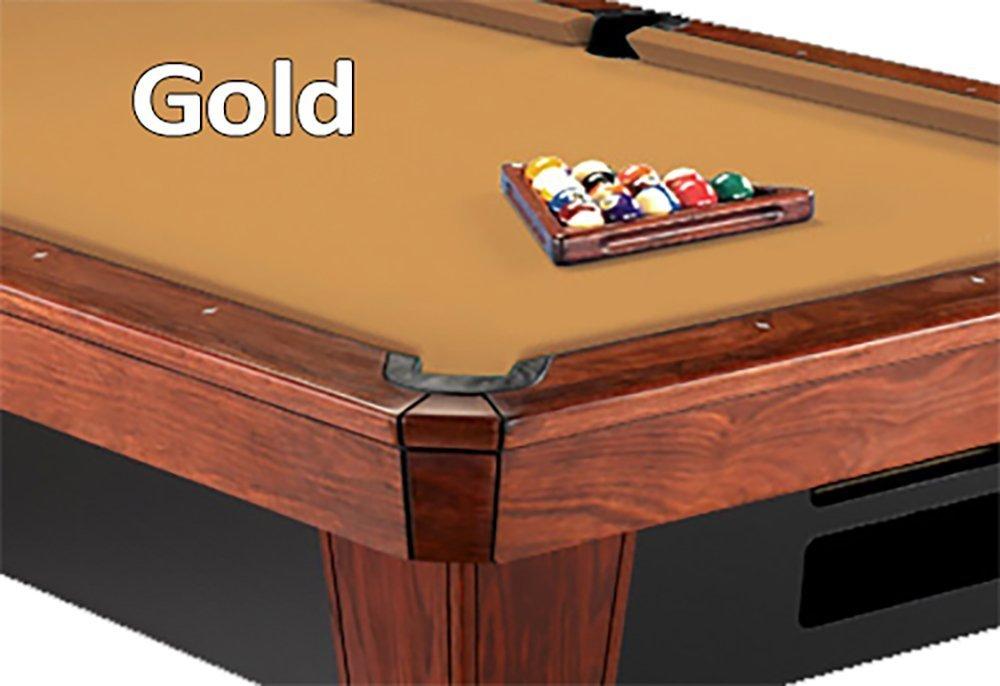 12 'シモニスクロス860ゴールドビリヤードPool Table Clothフェルト B00K4JKMOG