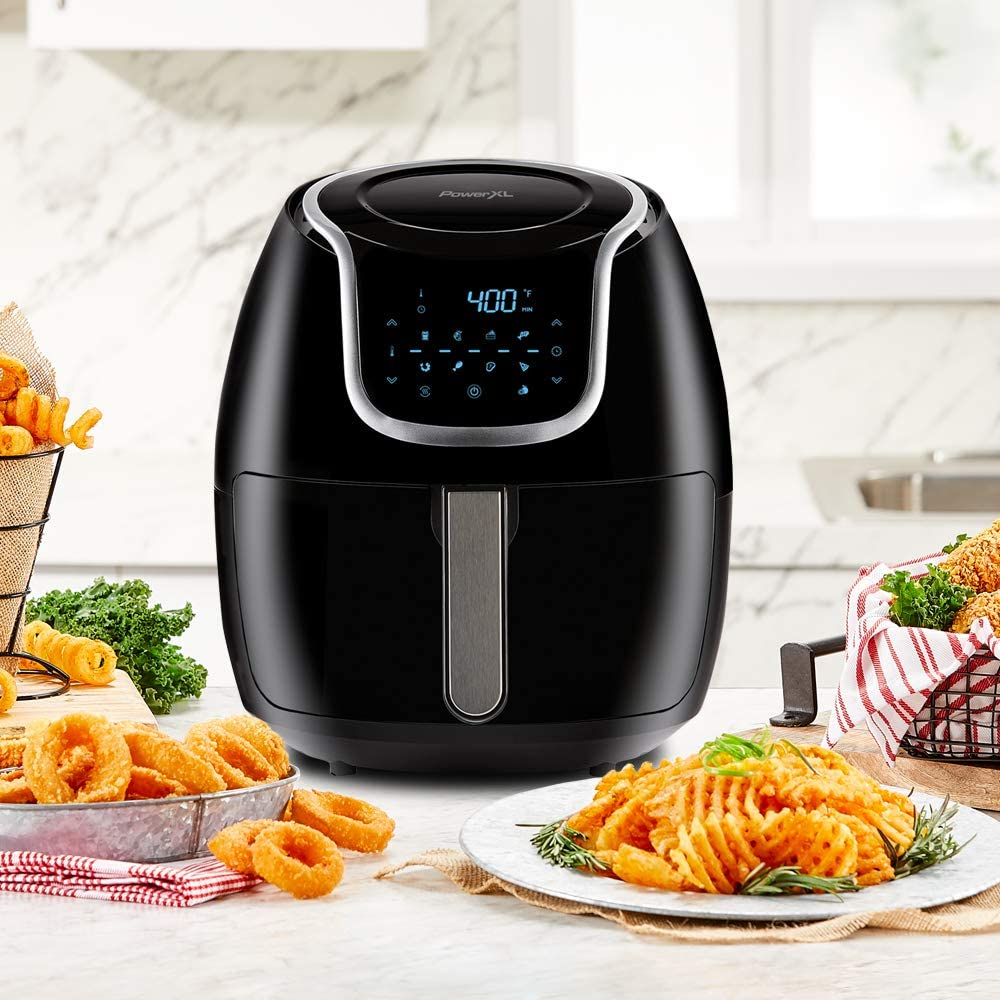 PowerXL Air Fryer Vortex - Featured Image with Cooked food