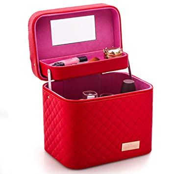 5d250618cd3c Amazon.com : Grid Cosmetic bags Large capacity Simple Portable Multi ...