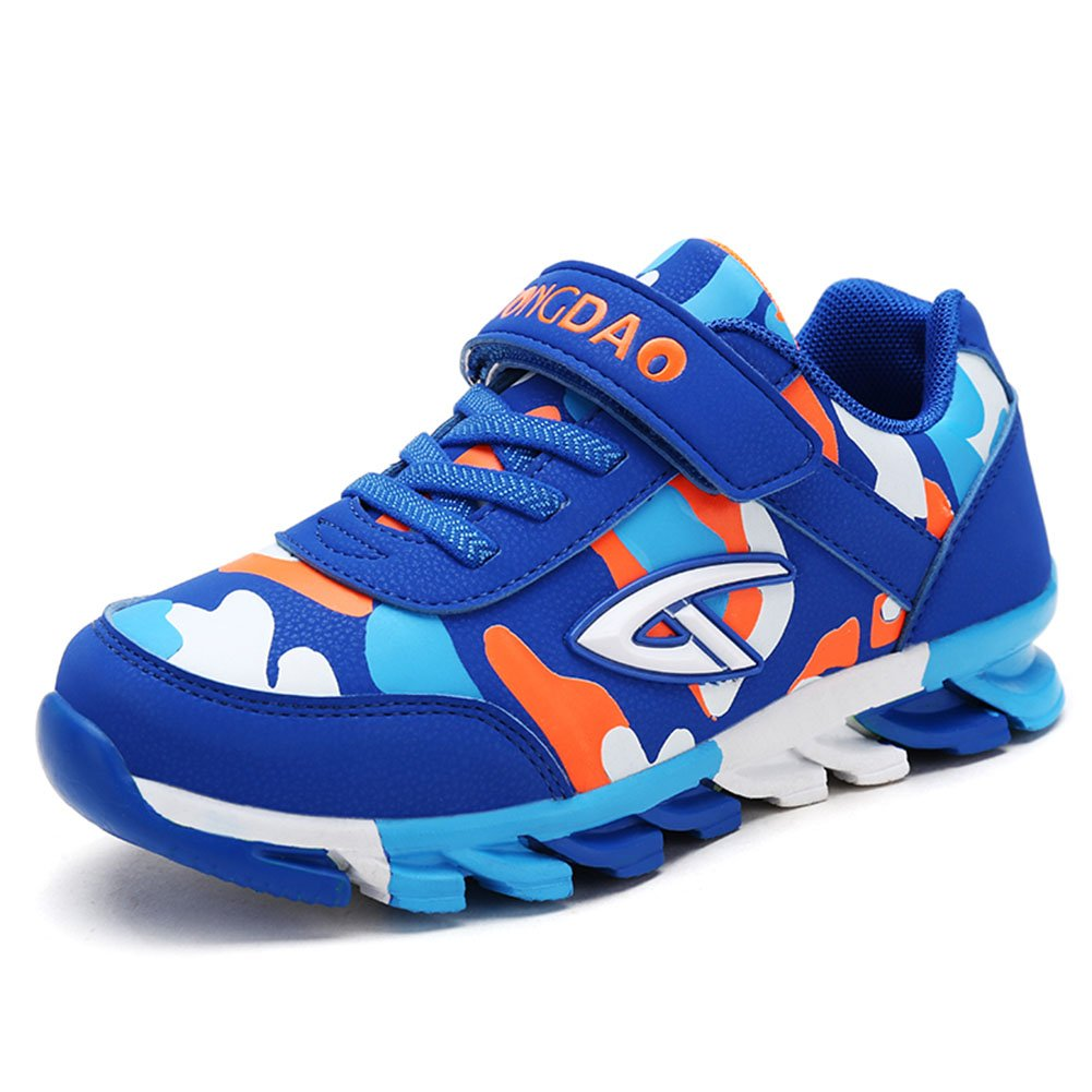 Veribuy Fashion Little/Big Boys Sports Shoes Waterproof Non-Slip Running Shoes Athletic Sneakers Light Blue