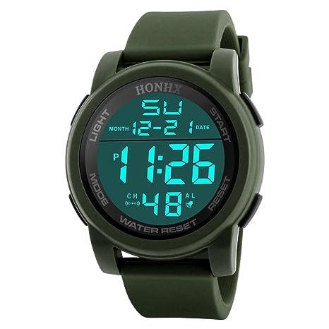 Vanpower Reloj digital impermeable de los deportes del reloj digital de la banda de la PU