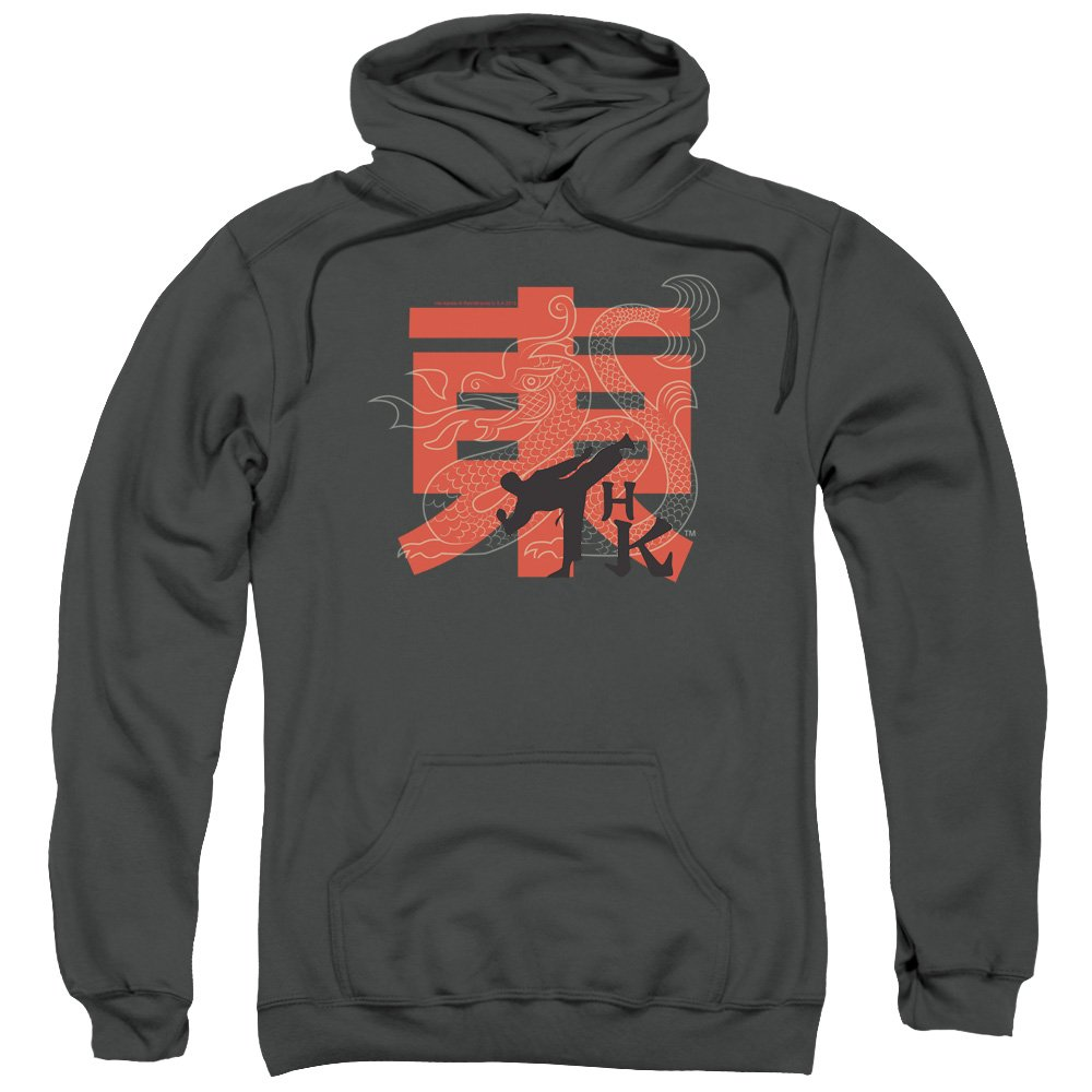 Trevco Hai Karate Hk Kick Unisex Adult Pull-Over Hoodie for Men and Women, 3X-Large Charcoal by Trevco