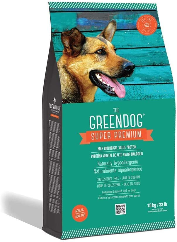 The Green Dog - Super Premium Vegan Dry Dog Food for Adults Plant-Based Protein | Gluten & Grain-Free | Prevent Allergies & Diseases | Vegetable Flavor