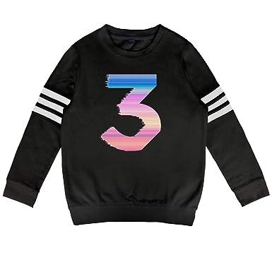 0a4b560ac Amazon.com  NmTStyle Chan-ce-The-Rap-per-Sticker- Boys Girls Sweater ...