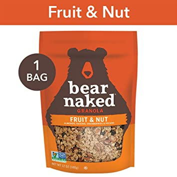 Bear Naked Fruit & Nut Granola - Non-GMO | Kosher | Vegetarian Friendly -  12 Oz