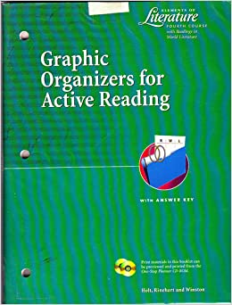 elements of literature graphic organizers for active reading answer key