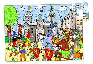 Vilac 2585 - Puzzle de madera (96 piezas), diseño de castillo medieval