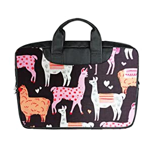 INSTALL AND EASY TO CARRY Wear& Slim &Dapper Cute I LOVE Llama Custom Waterproof Nylon Bag for Laptop 15.6 Inches(Twin sides)
