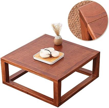 Coffee Table Baie Vitree En Bois Massif Table Basse Tatami Table Carree Table Basse Petite Table A Manger De Balcon Tables Amazon De Kuche Haushalt