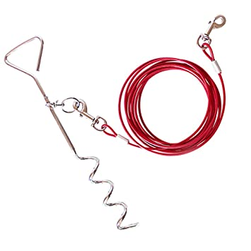 UEETEK Perro de mascota afeitar el cable y la estaca perro ...