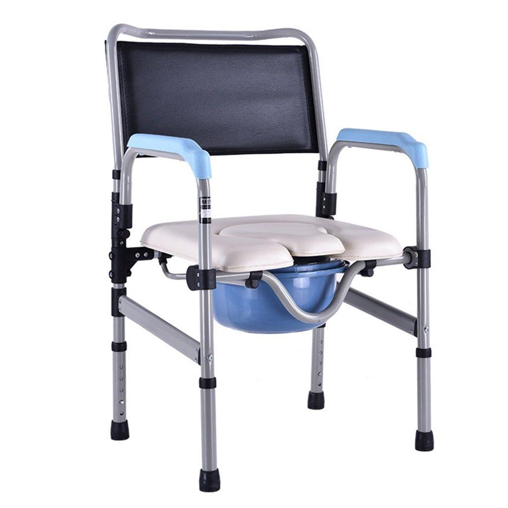 新作からSALEアイテム等お得な商品満載 頑丈で耐久性のあるバスルームシャワースツールバケツ付きポータブル高齢者障害者スチールチューブトイレチェアアンチスリップ手すり高さ調節可能なトイレ椅子妊婦トイレシート最大150kg B07F6YTG49, ナカハラク:ceb2c4db --- eastcoastaudiovisual.com