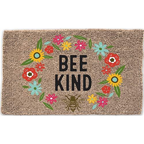 Evergreen Flag Bee Kind Woven Back Coir Floor Mat