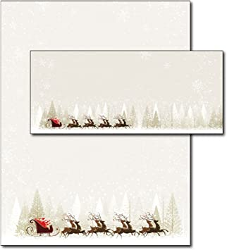 14 Personalised WRITING PAPER Christmas letter Reindeer xmas stationary c010