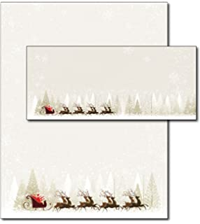 amazon com santa reindeer christmas paper 80 sheets office