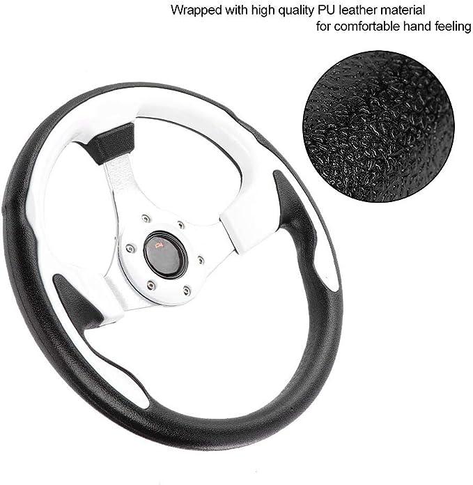 volante universale da 13 pollici 320 mm in pelle PU per auto sportiva Gorgeri Volante da corsa nero