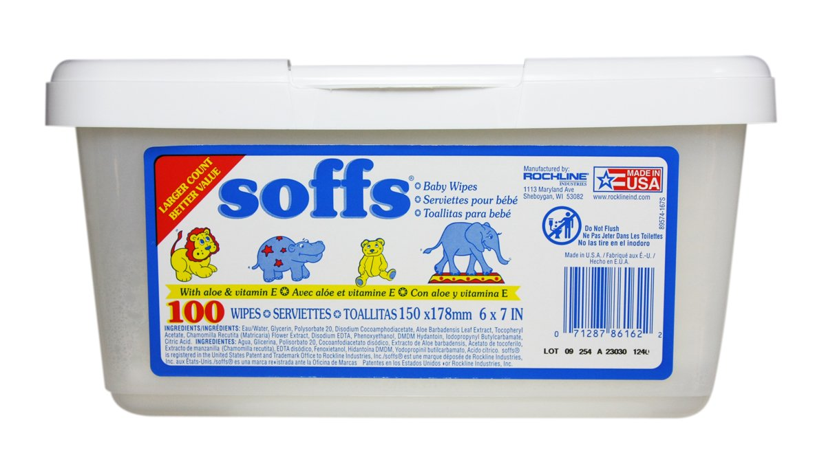 Amazon.com: Soffs Baby Wipes, 100-count Tubs (Pack of 12): Health & Personal Care