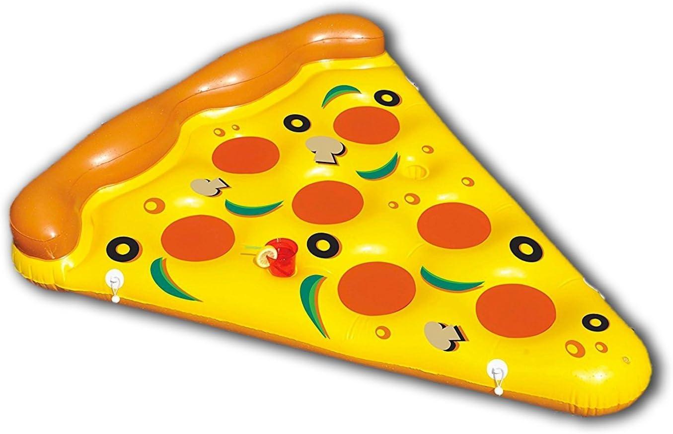 New Plast, 0897 - Colchón Hinchable, Forma de Pizza, Dimensiones ...