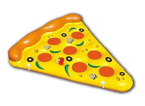 New Plast, 0897 - Colchón Hinchable, Forma de Pizza, Dimensiones 180 x 150 cm