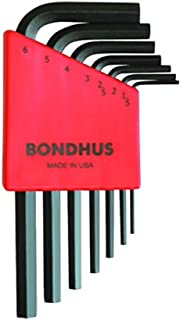 product image for Bondhus 12292 Set of 7 Hex L-wrenches, Short Length, sizes 1.5-6mm