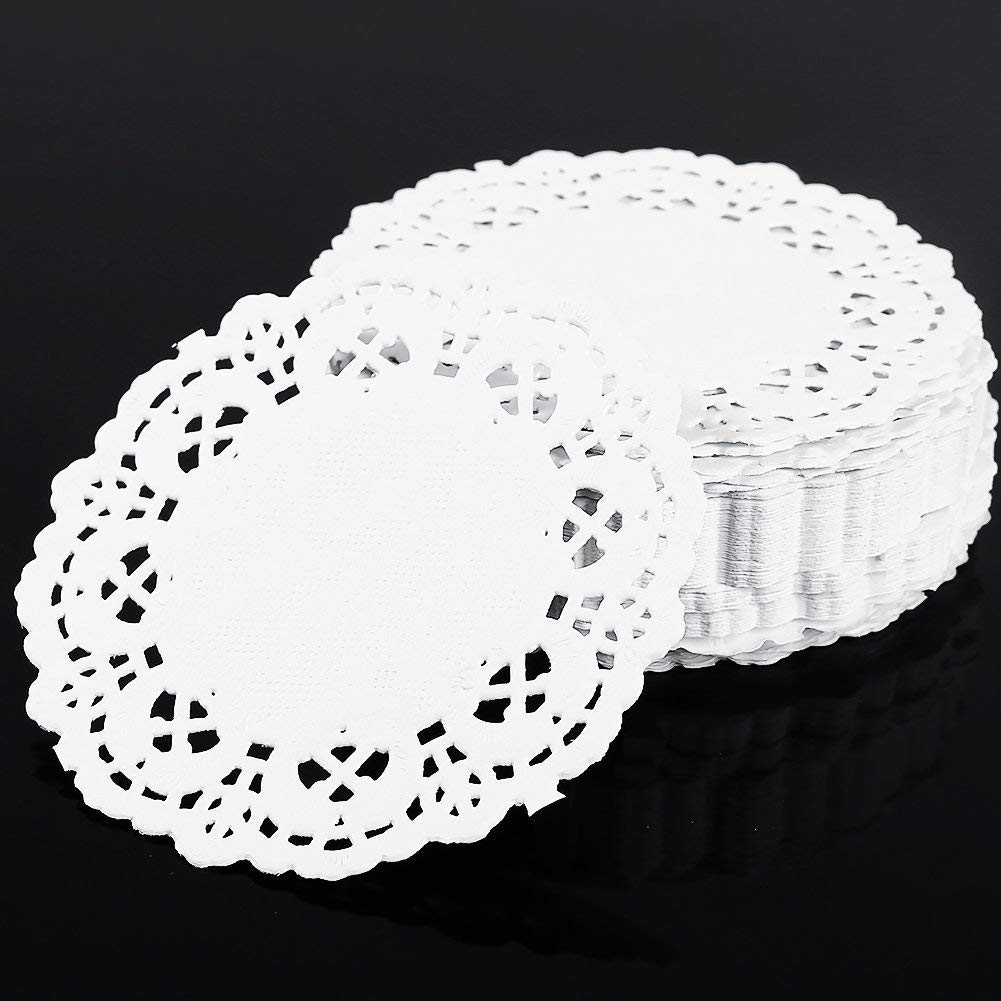 W8sunjs Round Paper Lace Doilies 3.5 inch Pack of 250 Pcs 5.5inch, 250pcs