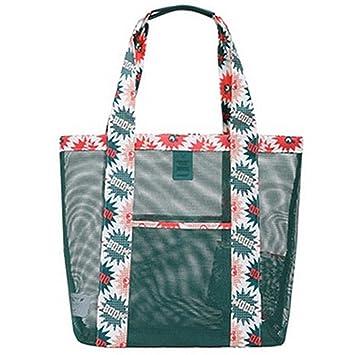 036e3a9633b09 Black Temptation Mesh Strand Tasche Übergroße Taschen Spielzeug  Einkaufstasche Einkaufstasche Einkaufstasche (L)
